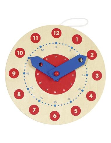 Horloge éducative apprendre lire heure goki montessori materiel educatif pedagogique didactique repere temps