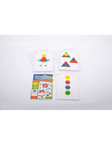 carte fiche activites attrimaths jeu geometrique reproduire pavage feuille A4 imprimer epais