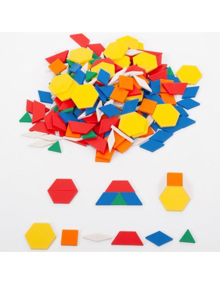 Attrimath 250 pièces Géométrie Montessori Reggio pedagogique educatif ief ecole maison neuroscience pavage