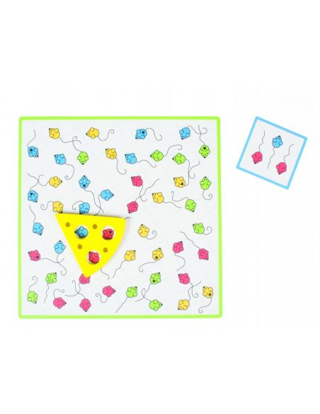 Tempo Toni  Jeu d'observation Beleduc societe jouet enfant apprendre fromage souris motricite fine repere spatiale ecole materne