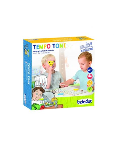 Tempo Toni  Jeu d'observation Beleduc societe jouet enfant apprendre fromage souris motricite fine repere spatiale educateur élè