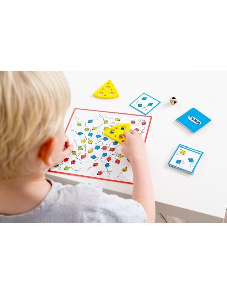 Tempo Toni  Jeu d'observation Beleduc societe jouet enfant apprendre fromage souris motricite fine repere spatiale