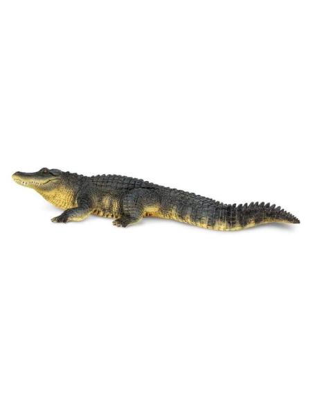 Figurine Alligator XL Crocodile géant jouet safari 113389 materiel pedagogique educatif montessori nomenclature enrichissement