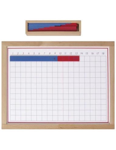 Matériel Montessori Tableau addition bandes didactique pedagogique classe bois apprendre mathematique cp