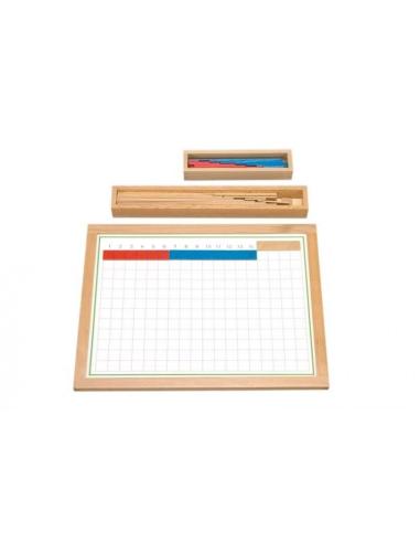 Tableau soustraction bandes  materiel montessori didactique