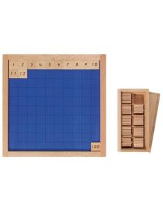 Tableau cent 100 Matériel table compter precoce Matériel Montessori didactique apprendre numerique systeme decimal