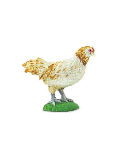 Figurine Poule Ameraucana - Animal de la ferme educatif safari materiel pedagogique montessori jouet collection carte nomenclatu