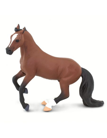 Figurine Cheval Thoroughbred Pur-Sang Safari 100092 Matériel pédagogique Enrichissement Montessori Jouet Cartes maternelle scien