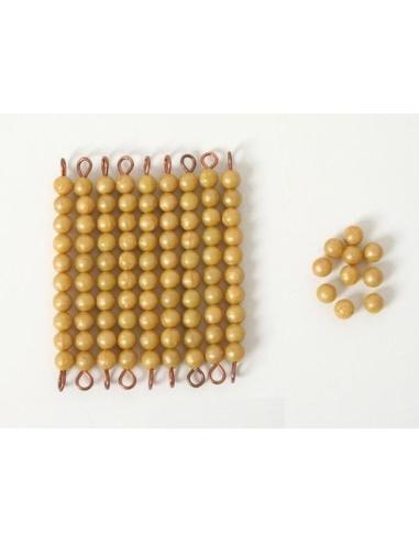 Lot barrettes perles 9 dizaine 10 unités materiel montessori didactique