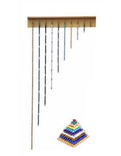 pyramides et chaîne courtes des perles Montessori haut de gamme