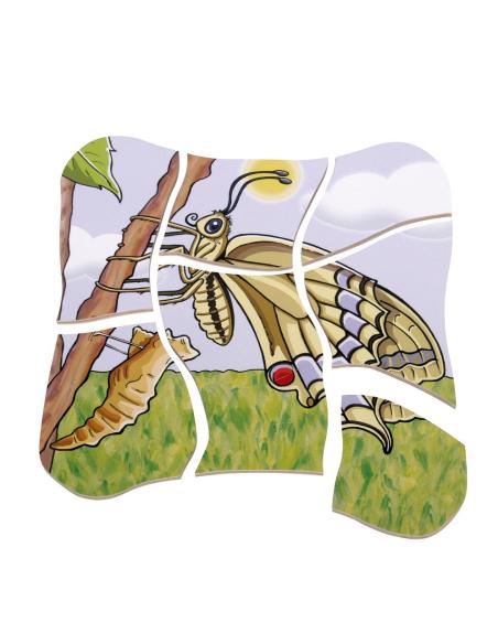 Puzzle étages Métamorphose papillon Beleduc cycle vie biologie science materiel educatif catalogue ecole maternelle didactique
