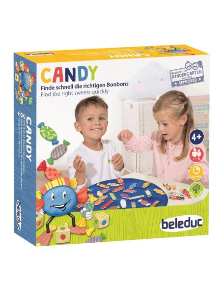 Candy Beleduc Jeu de discrimination visuelle rapidité materiel scolaire educatif pedagogique bonbon lesminis