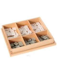 Boîte damier chiffres échiquiers (multiplication) Matériel Montessori