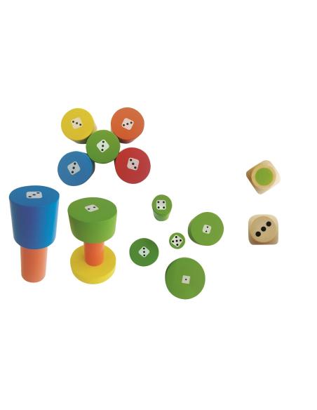 Torreta jeu société motricité couleurs nombres Beleduc 22451 tour haute materiel pedagogique educatif ecole maternelle primaire