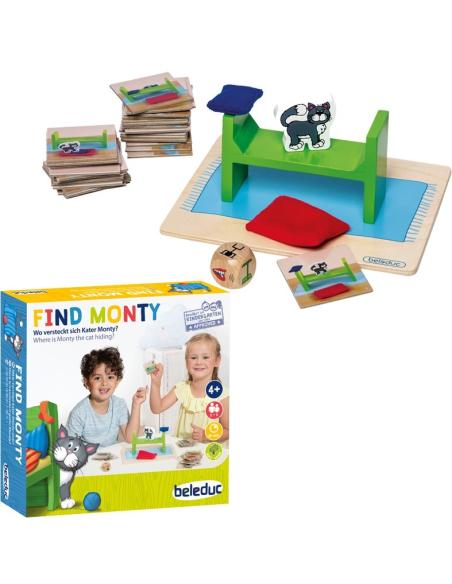 Find Monty Jeu repérage spatiale memoire vocabulaire montessori reeducation orthophonie materiel educatif pedagogique