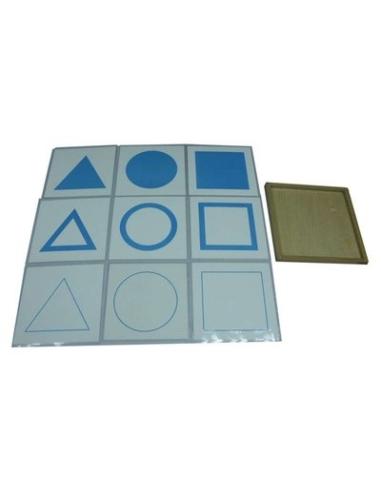 Carte des formes de géométrie materiel montessori didactique