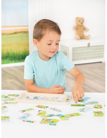 Puzzle à étages 4 saisons Beleduc ete hiver materiel pedagogique educatif apprentissage actif ecole maternelle primaire