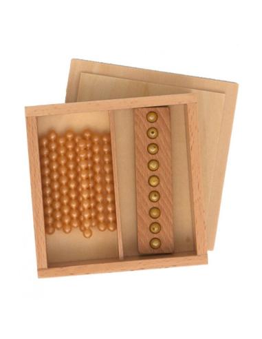 perles montessori dorees couleur table seguin materiel mathematique pedagogique educatif didactique ecole maternelle cp