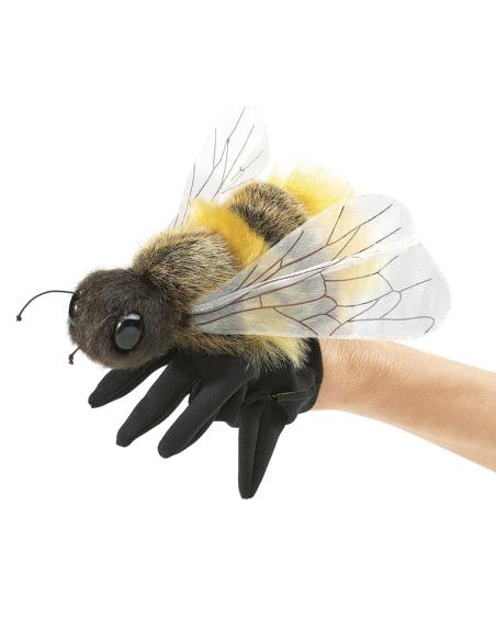 Marionnette main abeille folkmanis materiel educatif pedagogique orthophonie vocabulaire theatre scolaire ecole maternelle prima