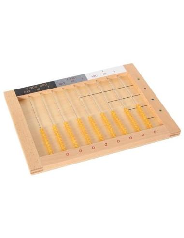 Boulier des perles dorées boutique Matériel Montessori didactique primaire abstraction multiplication systeme decimal