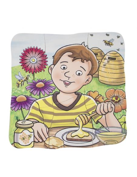 Puzzle étages fabrication miel superposition couche abeille apiculture fleur science ecole mternelle primaire enfant