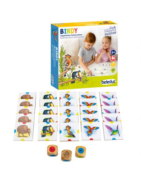 Birdy jeu societe association oiseau decouverte faune correspondance domino de carte materiel educatif pedagogique jouet enfant