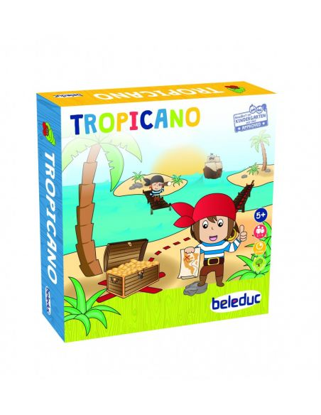 Tropicano Construire pont pirate tresor beleduc 22510 strategie jeu societe educatif motricite fine maths materiel pedagogique e