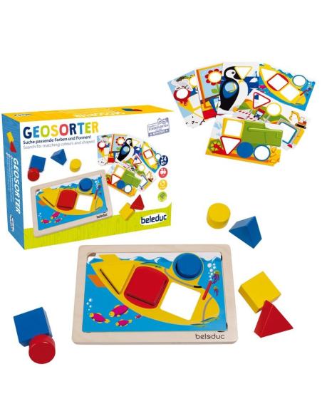 Geosorter Jeu association couleurs formes géométriques premier age creche maternelle ecole jouet pedagogique educatif beleduc