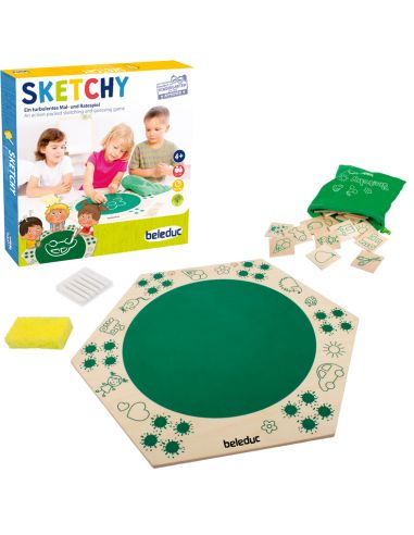 Sketchy dessinez devinez gagner jeu societe beleduc motricite fine ecriture materiel educatif pedagogique classe maternelle prim