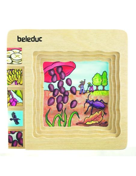 Puzzle étages croissance Banane biologie ddm decouverte monde science materiel scolaire educatif maternelle primaire