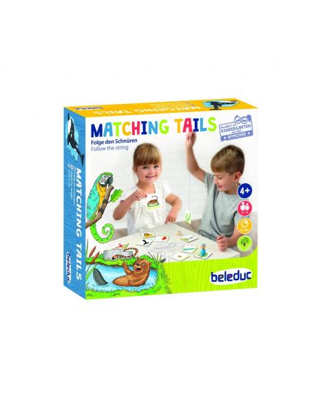 Matching Tails mikado jeu correspondance denombrement math educatif pedagogique animaux beleduc 22840