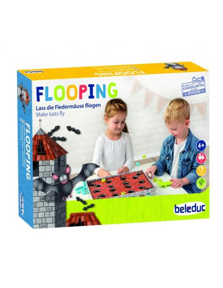 Flooping jeu de tir catapulte chateau chauve souris beleduc motricite fine globale ludotheque pedagogique educatif
