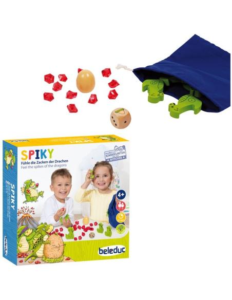 Spiky JEU dragon strategie enfant ecole maternelle primaire ludo mathematiques sensoriel tactile beleduc