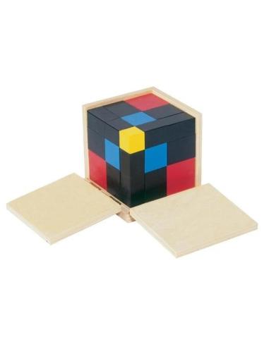 Cube du trinôme Matériel Montessori haut gamme ambiance classe ecole maternelle activite maths identite remarquable