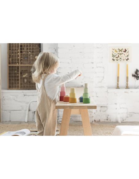 mandala grapat jouet jeu bois creativite montessori materiel ecole maternelle loosepart reggio waldorf bol tri theme parentlist