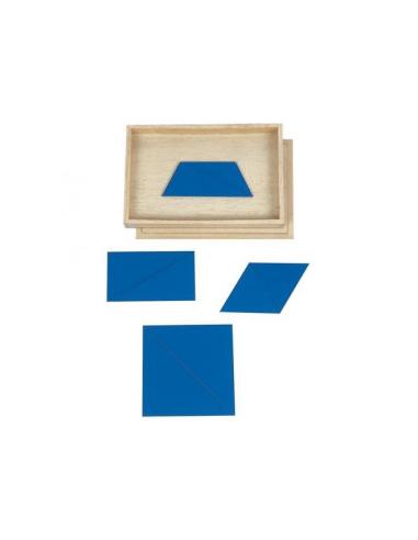 Triangle bleu 5 constructeur materiel montessori didactique sensorielle