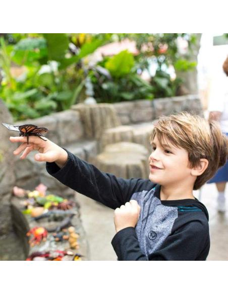 Figurine papillon modèle géant xl safari 542406 science etu ddm biologie decouverte atelier pedagogique educatif theme ecole e