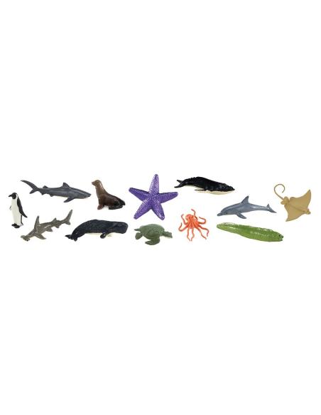 Figurines les animaux marins 48pcs Sachet vrac Safari 761104 Matériel pédagogique Enrichissement Montessori Jouet Cartes materne