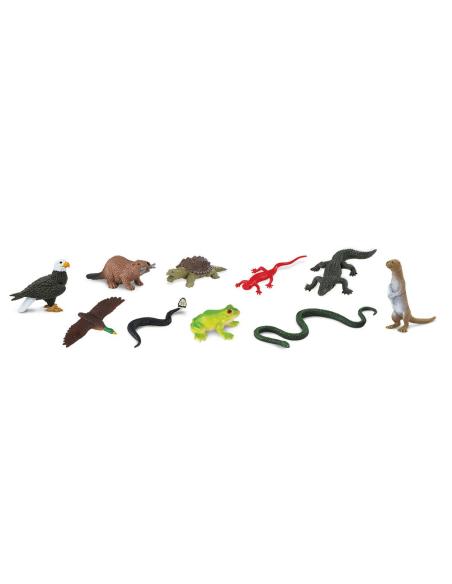 Figurines les animaux des rivières 48pcs - Sachet vrac Safari 765704 Matériel pédagogique Enrichissement Montessori Jouet Cartes