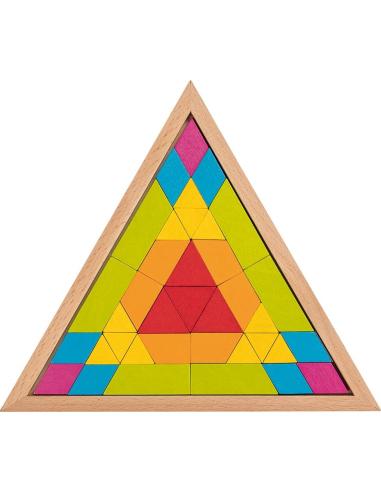 Puzzle mandala Triangle Jouet Construction bois GOKI Matériel Montessori Waldorf Reggio libre