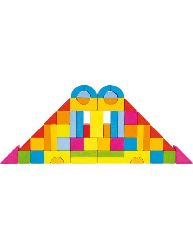 Jeu construction arches formes pédagogie libre Jouet bois GOKI Matériel Montessori Waldorf Reggio
