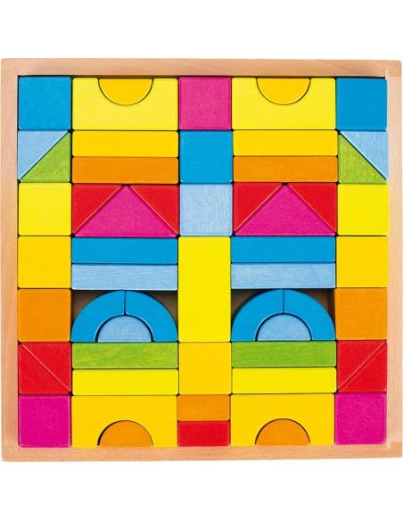 Jeu construction arches formes géométriques Jouet bois GOKI Matériel Montessori Waldorf Reggio libre