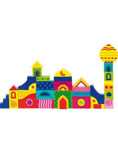 Jeu construction bois orient Mandala puzzle Jouet bois GOKI Matériel Montessori Waldorf Reggio