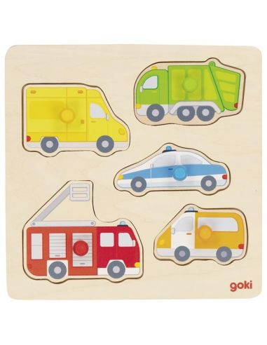 Puzzle des véhicules du quotidien (bois) Goki {PRODUCT_REFERENCE}  Puzzles - 1