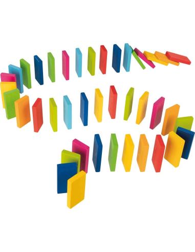 Rallye dominos grand modèle bois goki couleur circuit materiel mandala educatif pedagogique ecole maternelle primaire