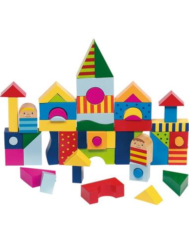 Shalimar puzzle jeu construction mandala bois Jouet GOKI Matériel Montessori Waldorf Reggio libre