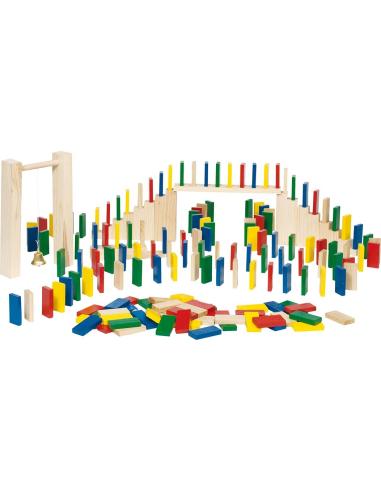 Lot de dominos et escalier en bois (250pcs) Goki {PRODUCT_REFERENCE}  Jouets libres et jeux de construction - 1