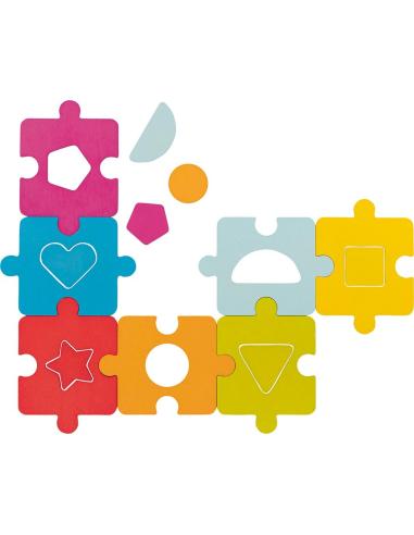 Puzzle empiler Jouet bois GOKI Matériel Montessori Waldorf Reggio