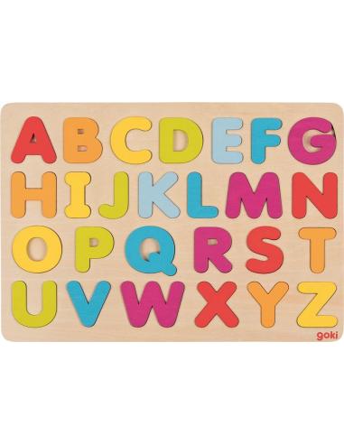 Puzzle des lettres de l'alaphabet arc-en-ciel (bois) Goki {PRODUCT_REFERENCE}  Puzzles - 1