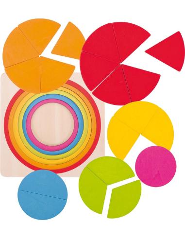 Puzzle circulaire - Pour apprendre les fractions (Goki) Goki {PRODUCT_REFERENCE}  Puzzles - 3